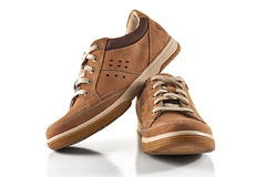 Brown mężczyzna ` s buty Obrazy Royalty Free