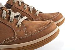 Brown mężczyzna ` s buty Zdjęcie Royalty Free