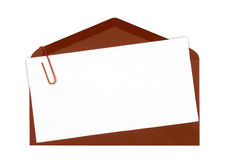Brown mail icon Royalty Free Stock Images