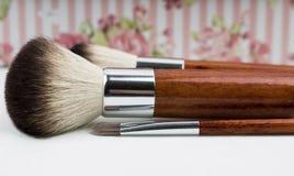 Brown Makeup Brushes Royalty Free Stock Photos