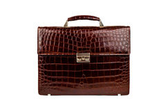 Brown male briefcase-1 Stock Image