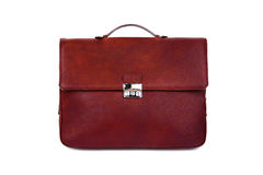 Brown male briefcase-3 Royalty Free Stock Images