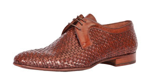 Brown male classic shoe Royalty Free Stock Image