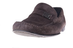 Brown male mocassins Royalty Free Stock Image