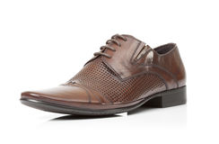 Brown male shoe Stock Image