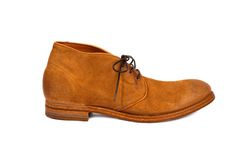 Brown male shoe-4 Stock Photos
