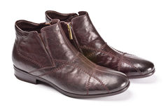 Brown male shoes Stock Photography