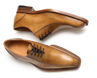 Brown male shoes Royalty Free Stock Photos