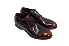 Brown male shoes-2 Stock Images
