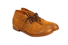 Brown male shoes Royalty Free Stock Images