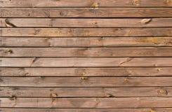 Brown malował drewno ścianę Zdjęcia Stock