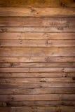 Brown malował drewno ścianę Fotografia Royalty Free