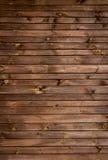 Brown malował drewno ścianę Zdjęcie Royalty Free