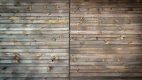 Brown malował drewno ścianę Obraz Royalty Free