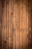 Brown malował drewno ścianę Obrazy Stock