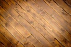 Brown malował drewno ścianę Obrazy Royalty Free