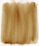 Brown malte Hintergrund mit Segeltuchbeschaffenheit Lizenzfreie Stockfotos