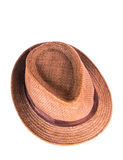Brown man hat. Isolated on white background Royalty Free Stock Photos
