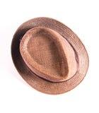 Brown man hat. On white background Stock Photos