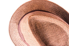 Brown man hat. On white background Stock Photo