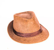 Brown man hat. On white background Royalty Free Stock Image