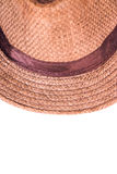 Brown man hat. On white background Stock Images