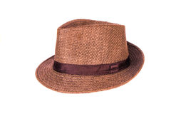 Brown man hat. On white background Stock Photography