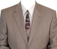 Brown man's jacket. Royalty Free Stock Photos