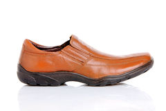 Brown man's shoe Stock Photos