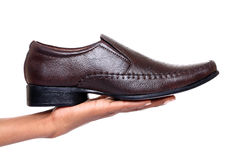 Brown man\'s shoe Stock Photo