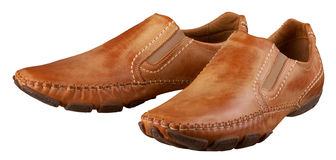 Brown man's shoes Stock Images