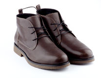 Brown man's shoes Stock Image