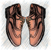 Brown man's shoes illustration Stock Photo