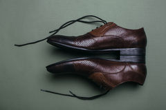 Brown man's shoes. Stock Images