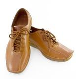 Brown man shoes Stock Photos