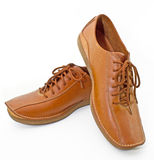 Brown man shoes Stock Photo