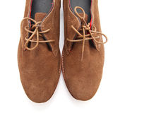 Brown man shoes Royalty Free Stock Photography