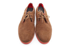 Brown man shoes Stock Image