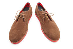 Brown man shoes Stock Photography