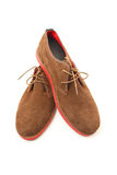 Brown man shoes Royalty Free Stock Images