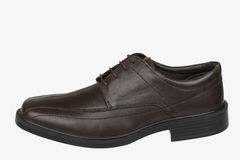 Brown man shoes. Brown men leather shoes isolate Royalty Free Stock Image