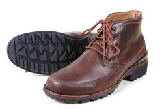 Brown man shoes Stock Photos