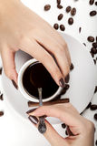 Brown manicure/ Stock Images