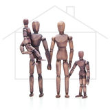 Brown mannequin family Stock Photography