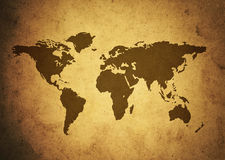 Brown map paper Royalty Free Stock Photography