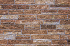 Brown marble brick wall abstract for background Royalty Free Stock Image