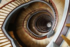 Brown Marble Stairs Stock Photo