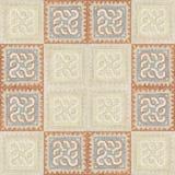 Brown marble-stone mosaic texture. Stock Photos