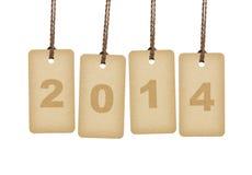Brown marca las letras con etiqueta 2014 Imagen de archivo libre de regalías