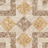 Brown marmurowa mozaiki tekstura. Obrazy Stock